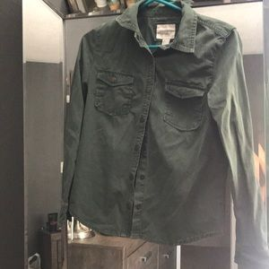 Green cardigan/jacket/ wear over